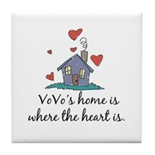 Vovo's Home is Where the Heart Is Tile Coaster