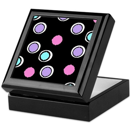 Black Polka-Dot Keepsake Box