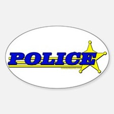 POLICE Oval Decal