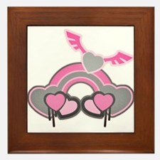 Angel Heart and Rainbow Framed Tile