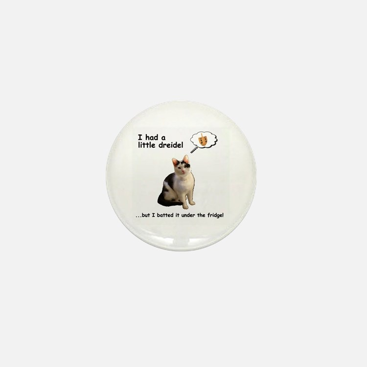Dreidel cat Mini Button
