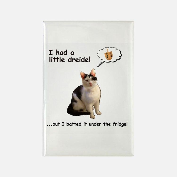 Dreidel cat Rectangle Magnet