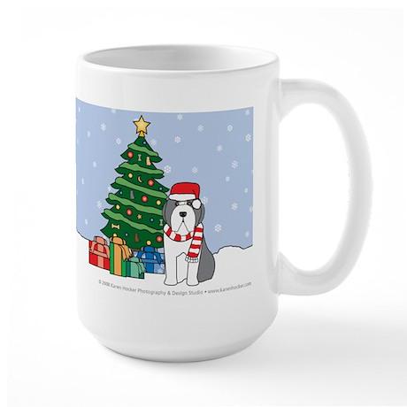 Beardie Christmas Large Mug