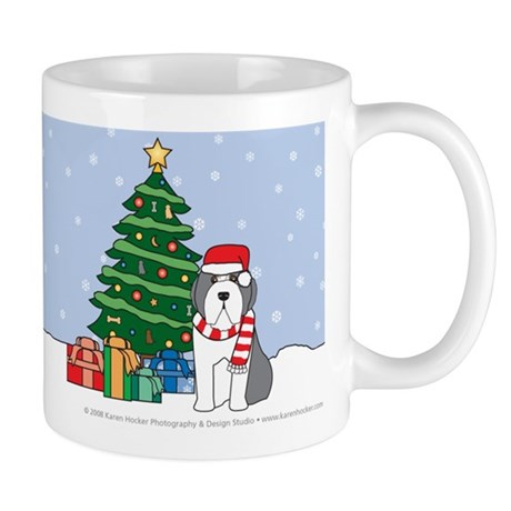 Beardie Christmas Mug
