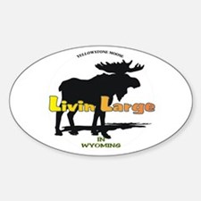 Livin Large - Moose Oval Decal
