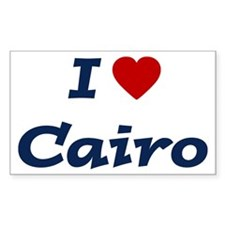 I HEART CAIRO Rectangle Decal