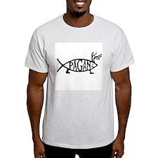 Pagan Fish Ash Grey T-Shirt