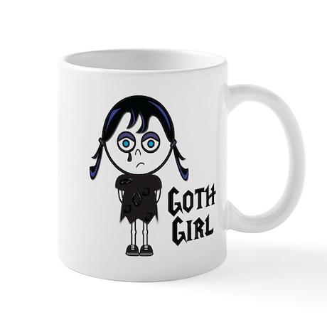 Cute Vector Illustration Goth Emo Girl Mug