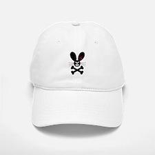 Evil Emo Bunny Crossbones Design Baseball Baseball Cap