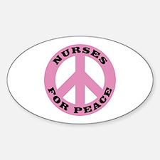 Nurses For Peace Oval Decal