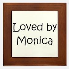 Unique Monica Framed Tile