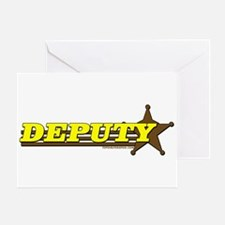 DEPUTY ~ YELLOW-BROWN Greeting Card