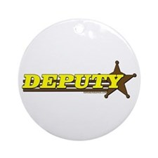 DEPUTY ~ YELLOW-BROWN Ornament (Round)