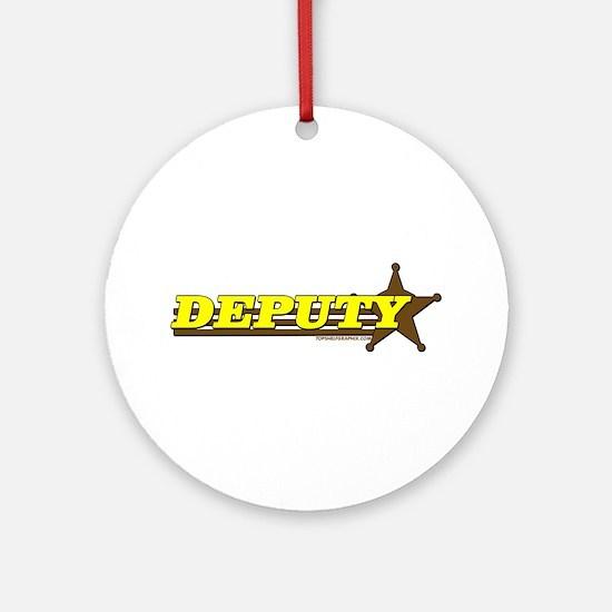 DEPUTY ~ YELLOW-BROWN Ornament (Round)