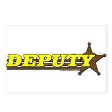 DEPUTY ~ YELLOW-BROWN Postcards (Package of 8)