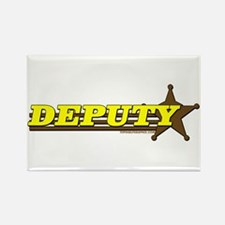 DEPUTY ~ YELLOW-BROWN Rectangle Magnet