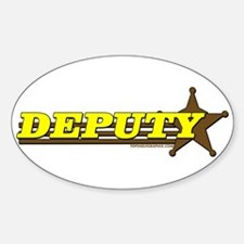 DEPUTY ~ YELLOW-BROWN Oval Decal
