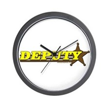 DEPUTY ~ YELLOW-BROWN Wall Clock