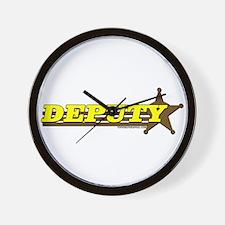 DEPUTY ~ YELLOW-BROWN Wall Clock