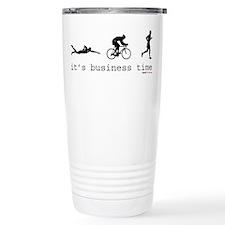 It's Business Time Triathlon Travel Mug
