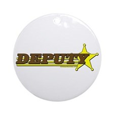 DEPUTY ~ BROWN-YELLOW Ornament (Round)