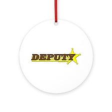 DEPUTY ~ BROWN-YELLOW Ornament (Round)