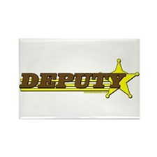 DEPUTY ~ BROWN-YELLOW Rectangle Magnet