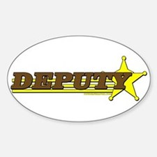 DEPUTY ~ BROWN-YELLOW Oval Decal