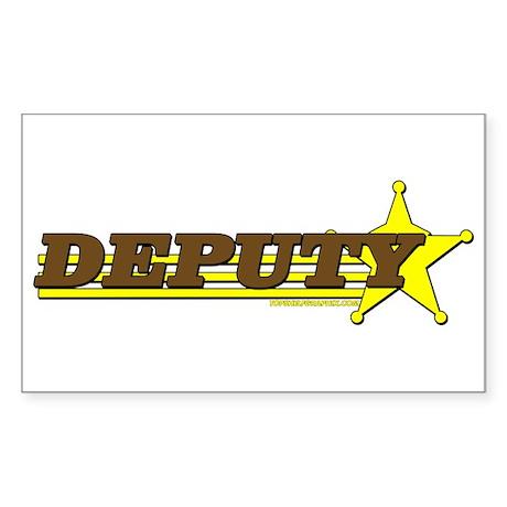 DEPUTY ~ BROWN-YELLOW Rectangle Sticker