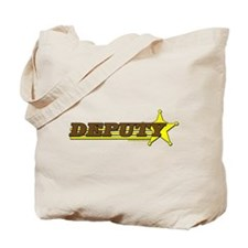 DEPUTY ~ BROWN-YELLOW Tote Bag