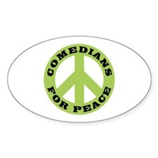 Comedians For Peace Oval Decal