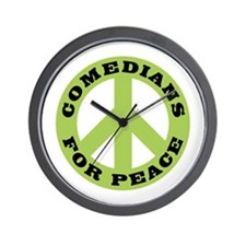 Comedians For Peace Wall Clock