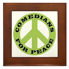 Comedians For Peace Framed Tile