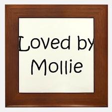 Funny Mollie Framed Tile