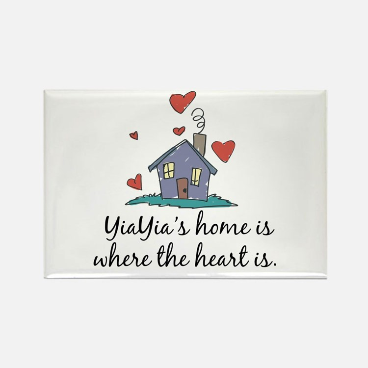 YiaYia's Home is Where the Heart Is Rectangle Magn