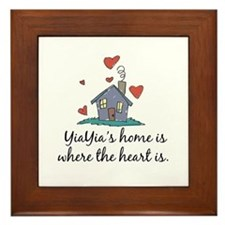 YiaYia's Home is Where the Heart Is Framed Tile