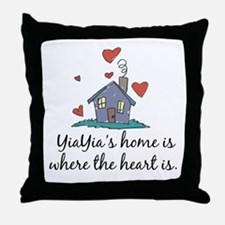 YiaYia's Home is Where the Heart Is Throw Pillow