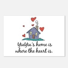 YiaYia's Home is Where the Heart Is Postcards (Pac