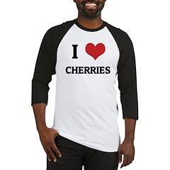I Love Cherries Baseball Jersey