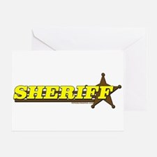 SHERIFF ~ YELLOW-BROWN Greeting Card