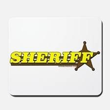 SHERIFF ~ YELLOW-BROWN Mousepad