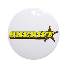 SHERIFF ~ YELLOW-BROWN Ornament (Round)