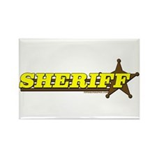 SHERIFF ~ YELLOW-BROWN Rectangle Magnet