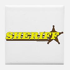 SHERIFF ~ YELLOW-BROWN Tile Coaster