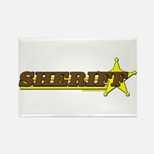 SHERIFF ~ BROWN-YELLOW Rectangle Magnet