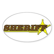 SHERIFF ~ BROWN-YELLOW Oval Decal
