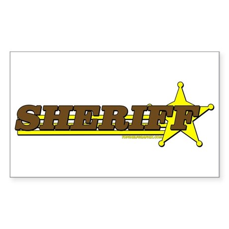 SHERIFF ~ BROWN-YELLOW Rectangle Sticker