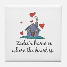 Zadie's Home is Where the Heart Is Tile Coaster