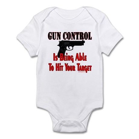 GUN CONTROL ~ HANDGUN Infant Bodysuit