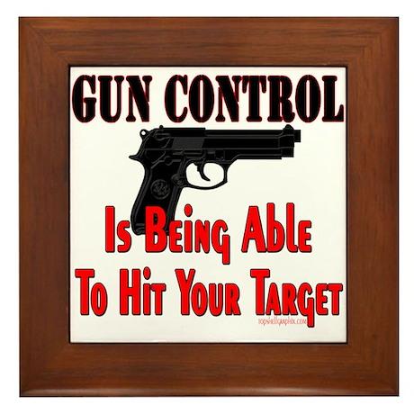 GUN CONTROL ~ HANDGUN Framed Tile